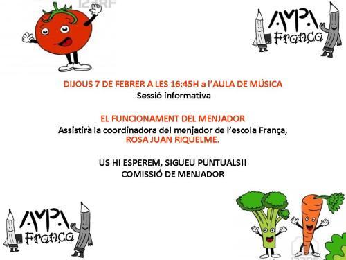 REUNIÓ MENJADOR 2013