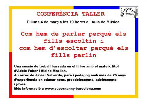 cartell conferència com escoltar perquè...
