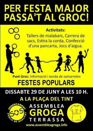 cartell festa major en groc 2013